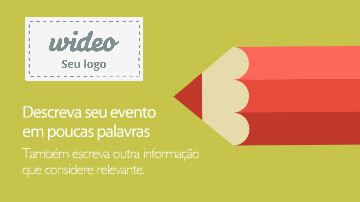 Video template para convite a evento