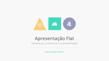 Vídeo para apresentação empresarial Flat design