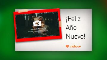 Video plantilla de saludo de Año Nuevo