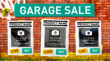 Garage Sales Video Template