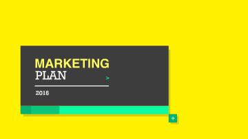 마케팅 계획 프레젠테이션 템플릿